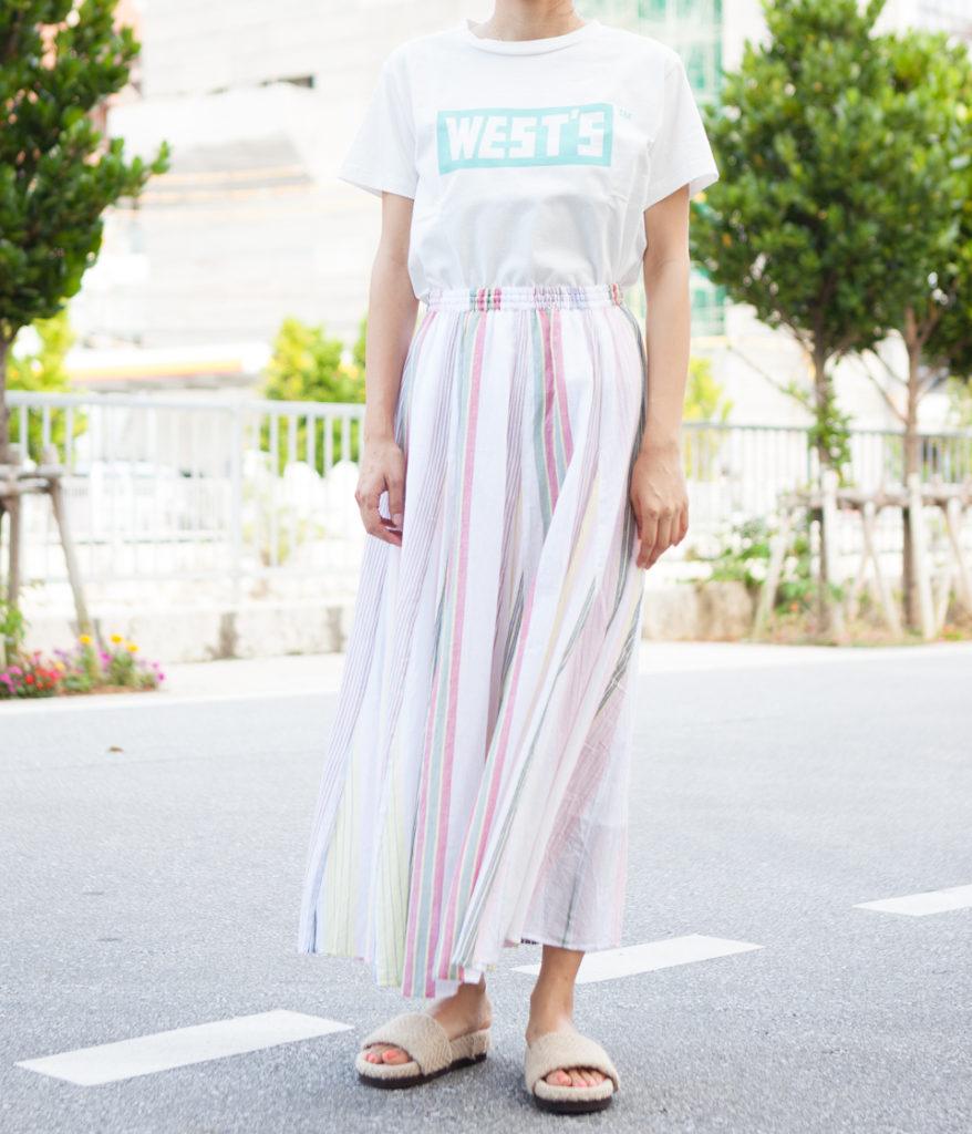 ne Quittez pas ヌキテパ multi stripe long skirt ロングスカート