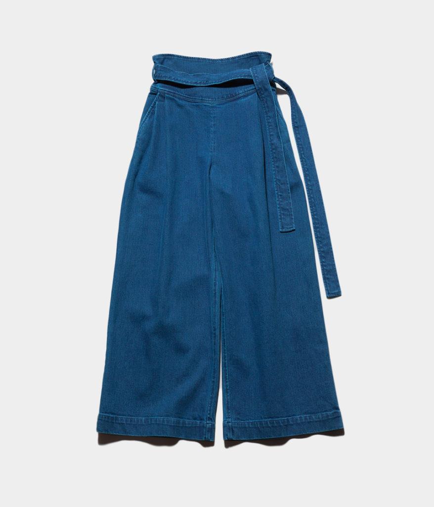 ne Quittez pas ヌキテパ denim belt wide pants ベルト付きワイドデニムパンツ