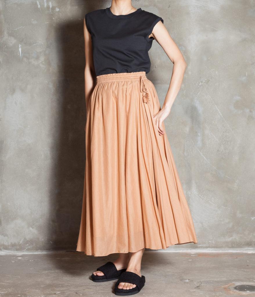 ne Quittez pas ヌキテパ Plain Voil Maxi Skirt マキシスカート