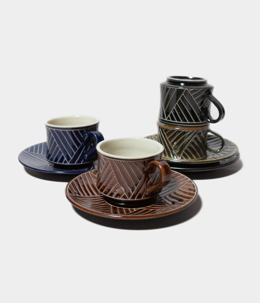 Kamany カマニー COFFEE CUP & SAUCER BASANAI コーヒーカップ&ソーサー やちむん