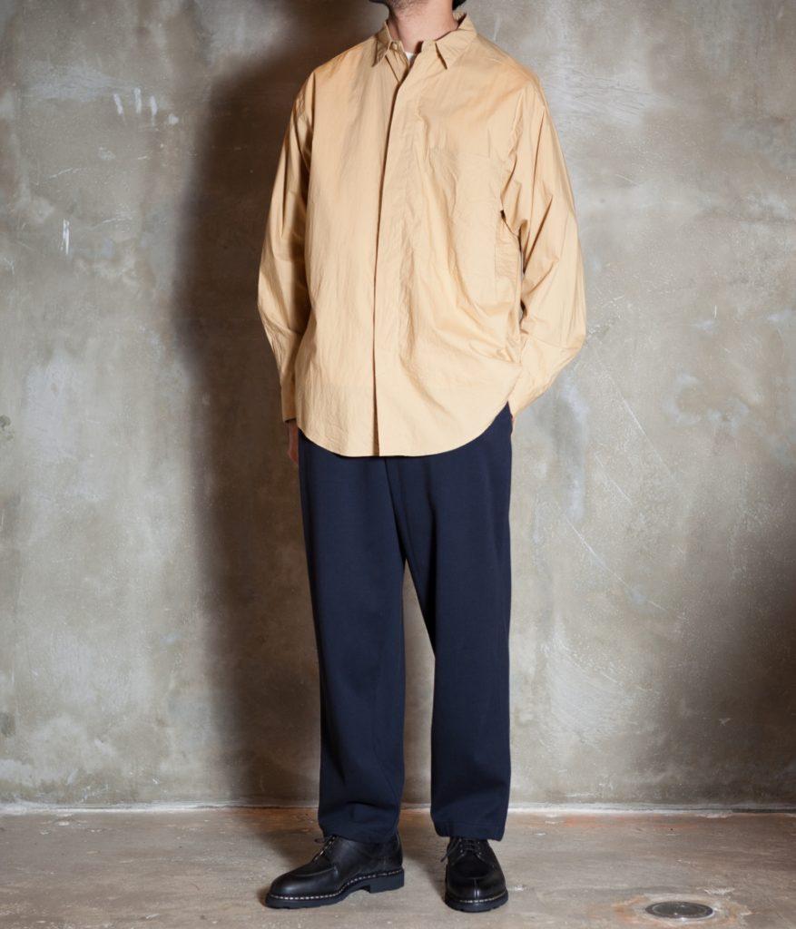 unfil アンフィル cotton-typewriter flyfront shirt コットンタイプライターシャツ