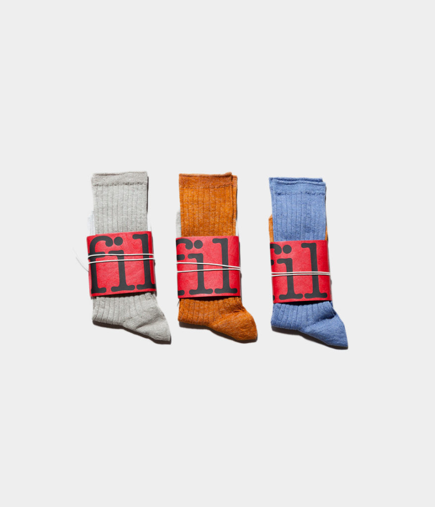UNFIL アンフィル french linen thin socks フレンチリネンリブソックス