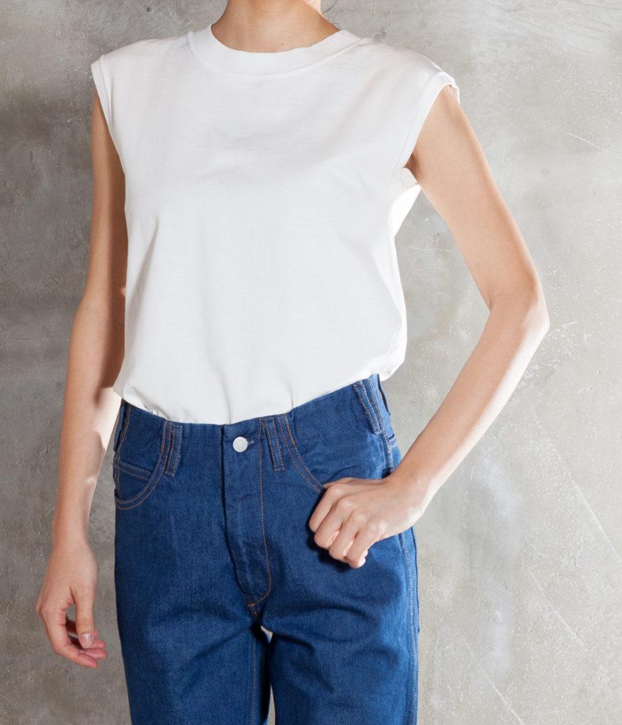 UNFIL アンフィル dry touch cotton jersey sleeveless tee スリーブレスTシャツ