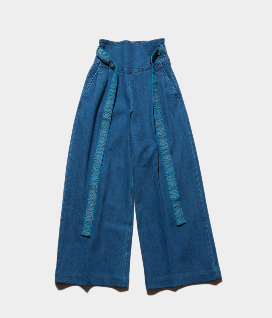 ne Quittez pas ヌキテパ denim belt wide pants デニムベルトワイドパンツ
