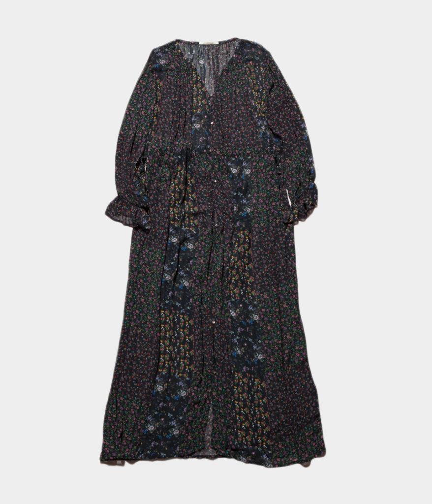 ne Quittez pas ヌキテパ georgette flower long dress ジョーゼットフラワーロングドレス