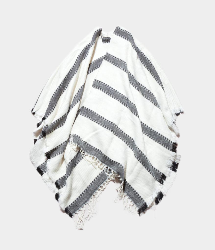 ne Quittez pas ヌキテパ wool stripe poncho ウールストライプポンチョ