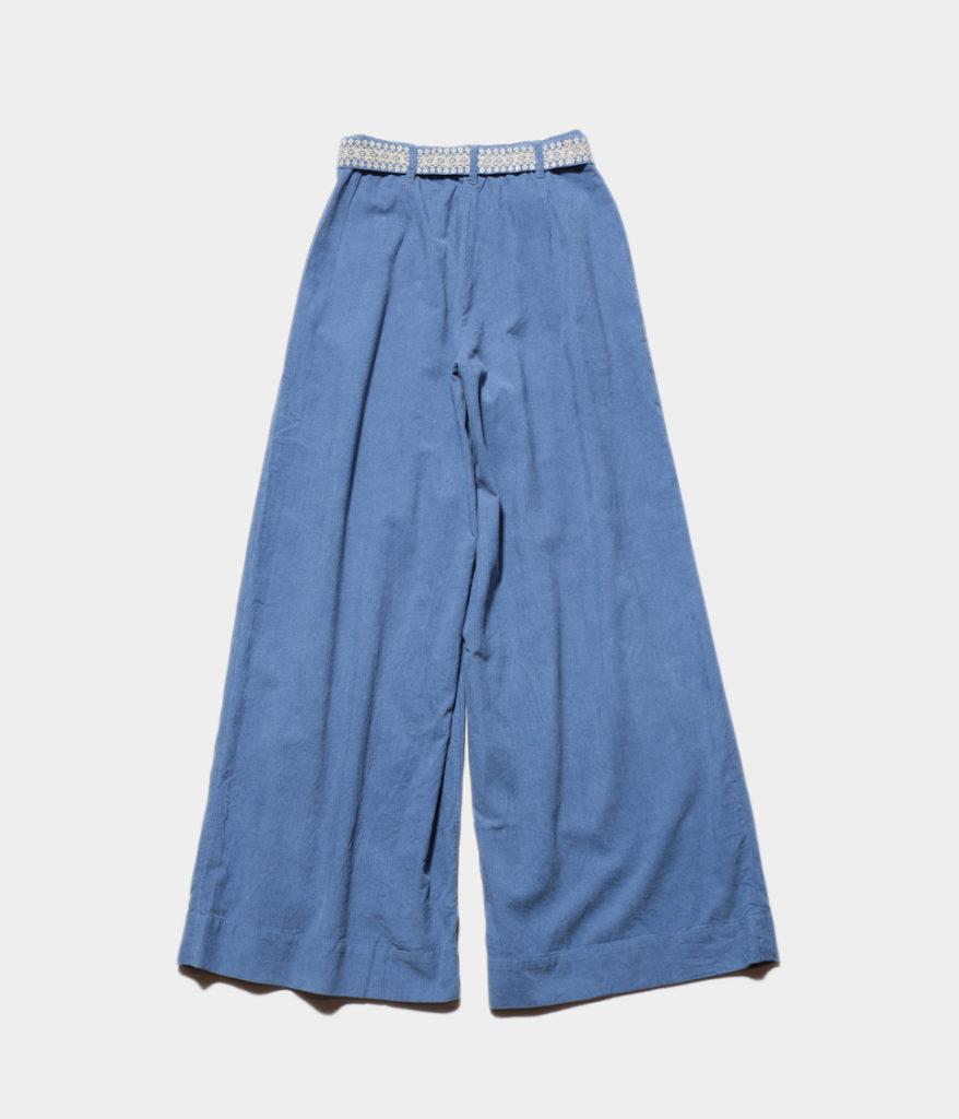 ne Quittez pas ヌキテパ corduroy belt wide pants コーデュロイベルトワイドパンツ