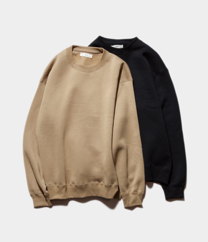 unfil アンフィル cotton-terry crewneck pullover コットンテリークルーネックプルオーバー