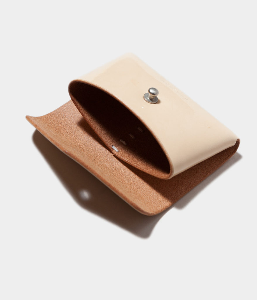 Hender Scheme エンダースキーマ patent natural one piece card case パテントレザーワンピースカードケース