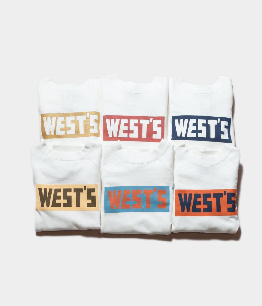 Westoveralls ウエストオーバーオールズ WEST'S CREW SWEAT ロゴスウェット