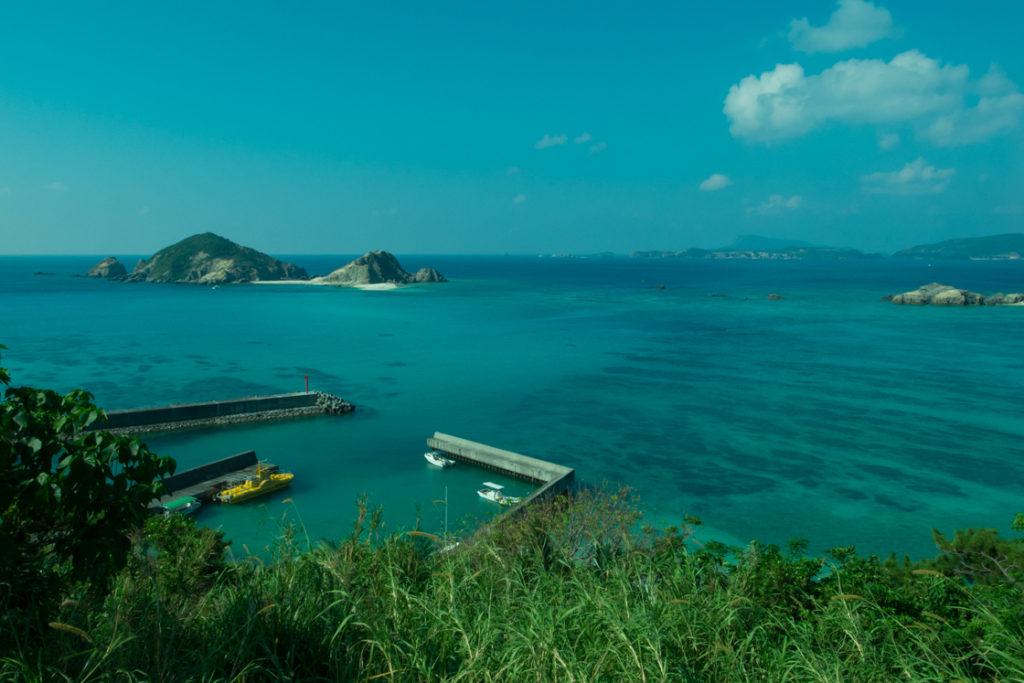 慶良間諸島 渡嘉敷島 阿波連漁港 阿波連ビーチ