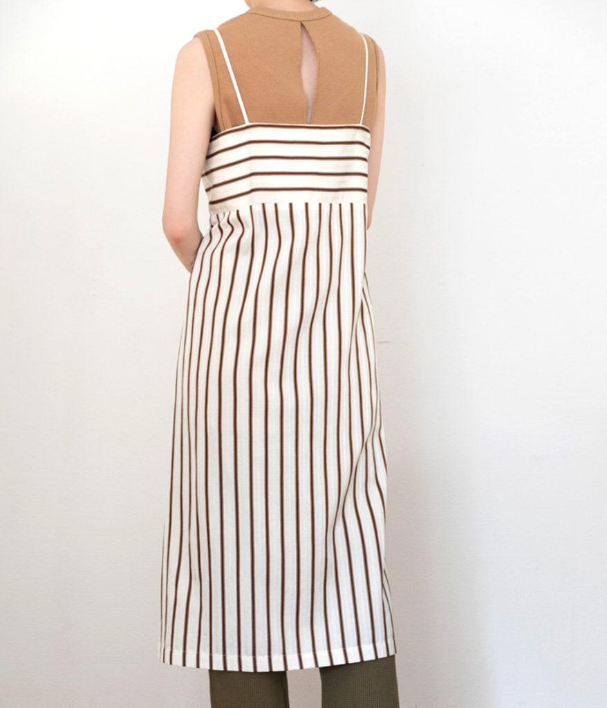 PHEENY 19SS フィーニー PS19-OP03 Cotton cupro stripe camisole dress