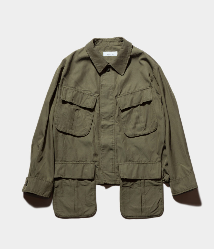 PHEENY 19SS フィーニー PS19-BL01 Rayon cotton twill short fatigue jacket