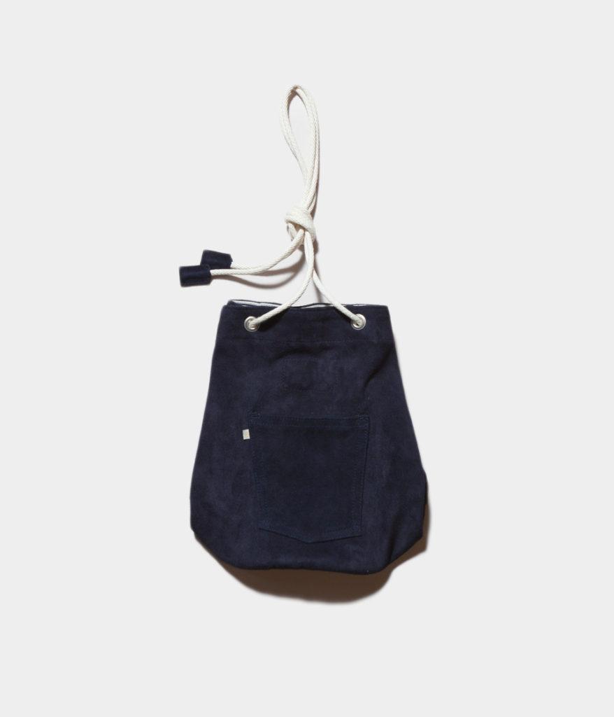 Westoveralls ウエストオーバーオールズ SUEDE BOX スエード巾着バッグ