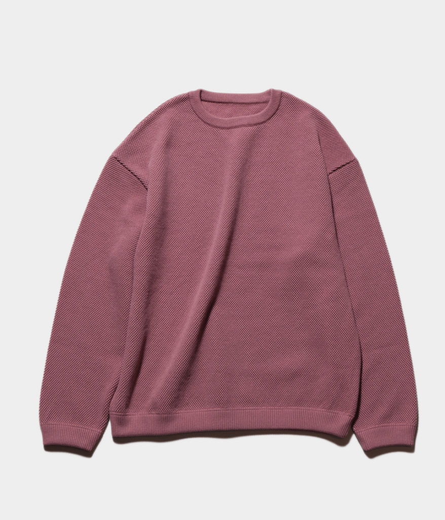 Crepuscule クレプスキュール 19SS モスステッチロングスリーブスウェット
