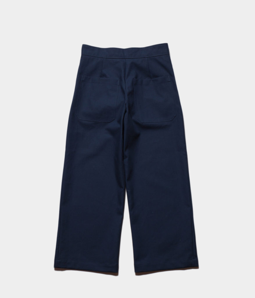 STUDIO NICHOLSONスタジオニコルソン 19SS CHRISTIE Cotton Double Pants-Crease Front Slack With Cynch