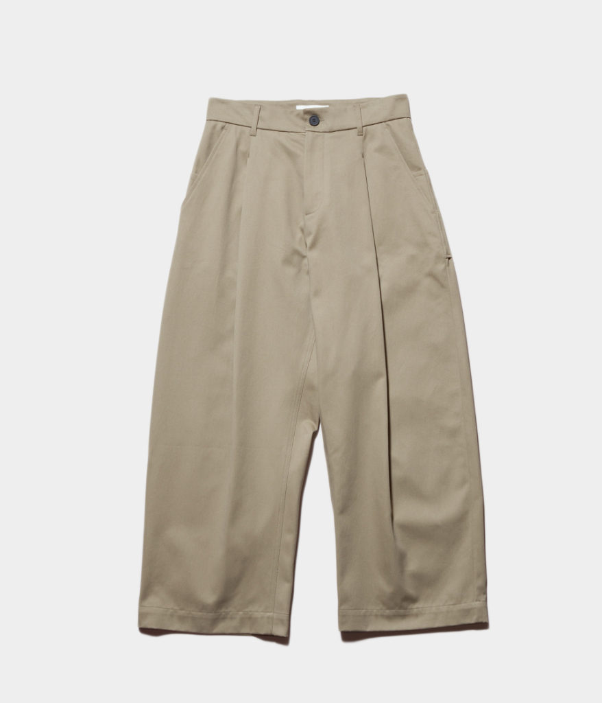 STUDIO NICHOLSONスタジオニコルソン 19SS BLAKE Cotton Drill Pants-Volume Pant ボリュームパンツ
