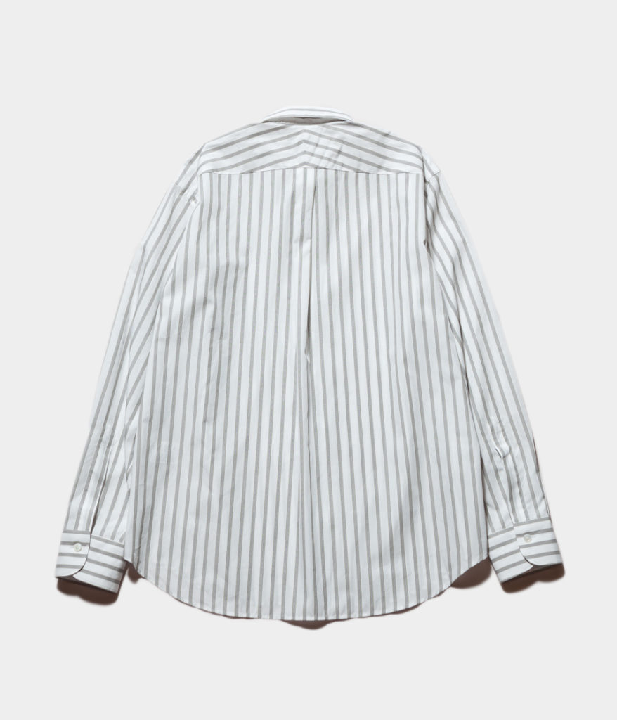 Studio Nicholson スタジオニコルソン SAKURA Stripe Piumino Shirting-Oversized Point Collar Shirt ストライプシャツ