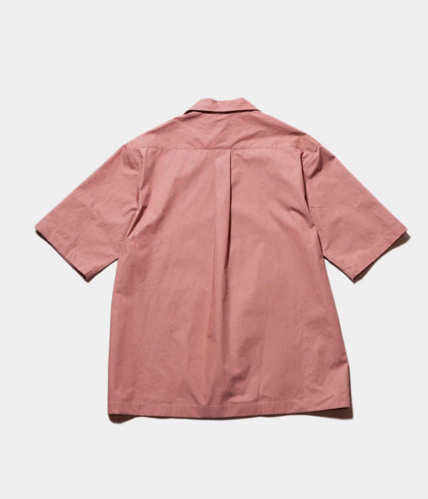 Studio Nicholson スタジオニコルソン COCKLE Paper Poplin Shirting-Short Sleeve Camp Collar Shirt 開襟シャツ