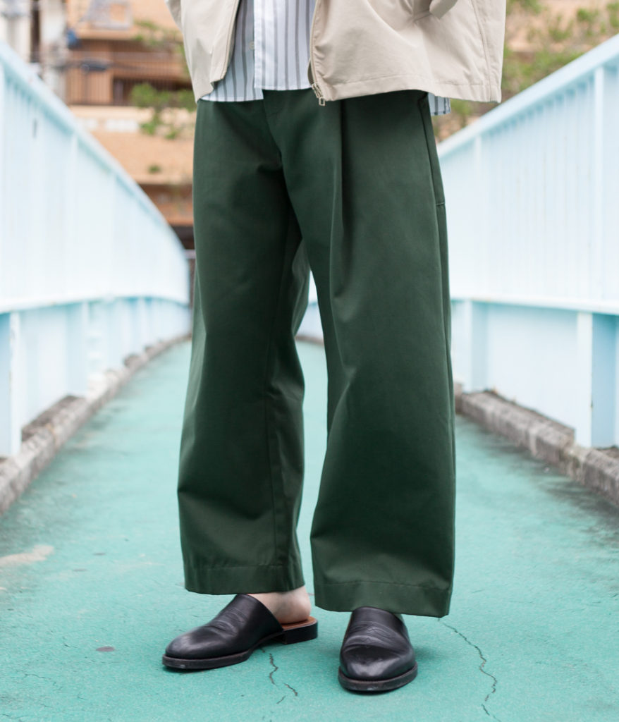 Studio Nicholson スタジオニコルソン BRIDGES PANT Cotton Drill Pants-Volume Pant コットンドリル ボリュームパンツ