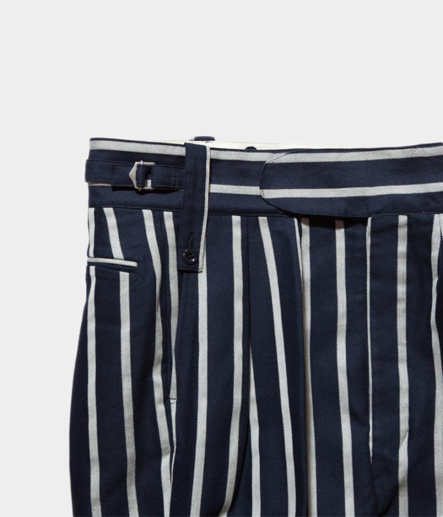NEAT ニート Cotton/Linen Stripe Beltless Shorts コットンリネンストライプ ベルトレスショーツ