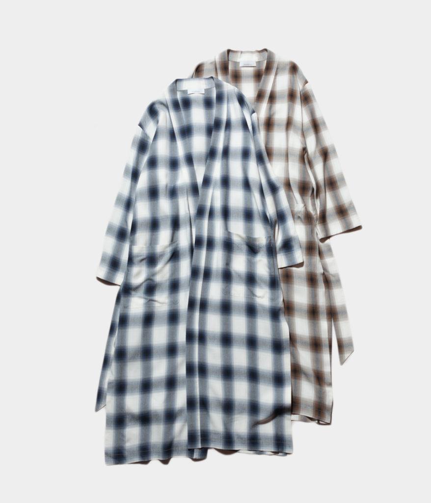 PHEENY フィーニー 19SS Rayon ombre check robe レーヨンオンブレチェックローブ