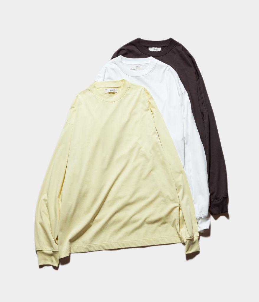 unfil アンフィル 19SS suvin cotton jersey ロングスリーブTシャツ