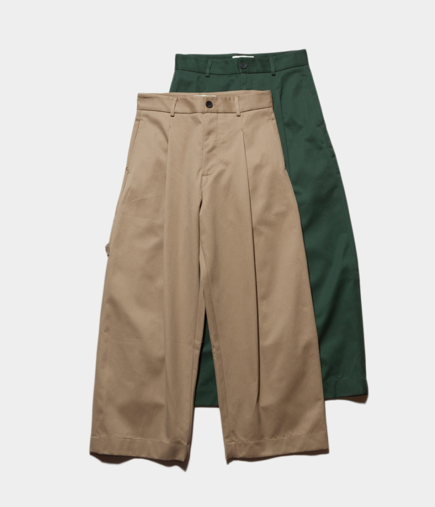 Studio Nicholson スタジオニコルソン BRIDGES PANT Cotton Drill Pants-Volume Pant ボリュームパンツ