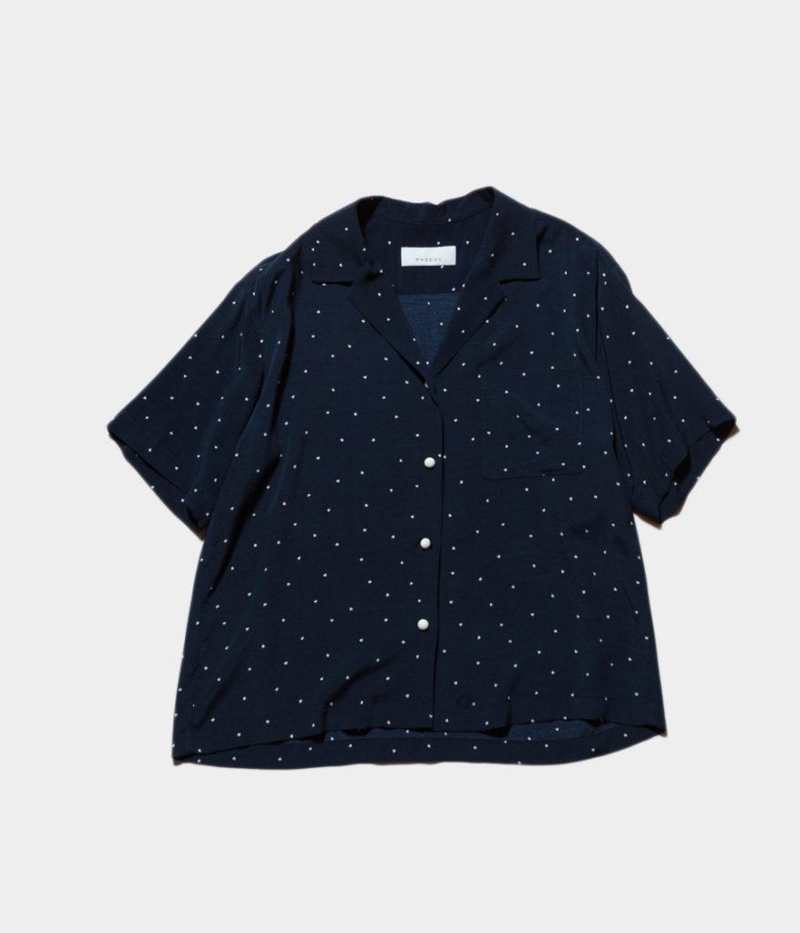 PHEENY フィーニー 19SS Rayon dot S/S shirt
