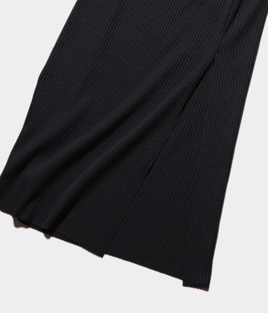PHEENY フィーニー 19SS Pe/c wide rib side slit maxi skirt ワイドリブスリットマキシスカート