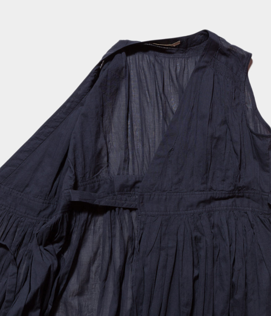Ne Quittez Pas ヌキテパ Cotton Voil Cross Over Front Dress コットンボイルクロスオーバーフロントドレス
