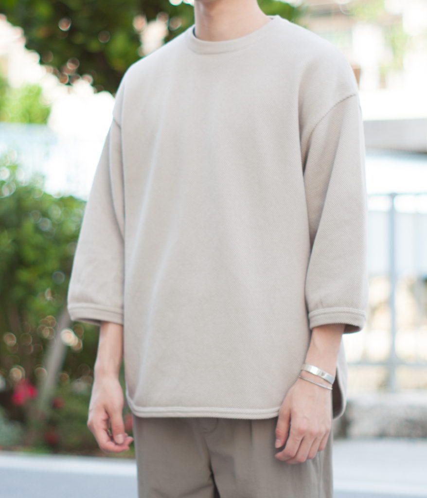 Crepuscule クレプスキュール 7's round knit 7分袖クルーネック