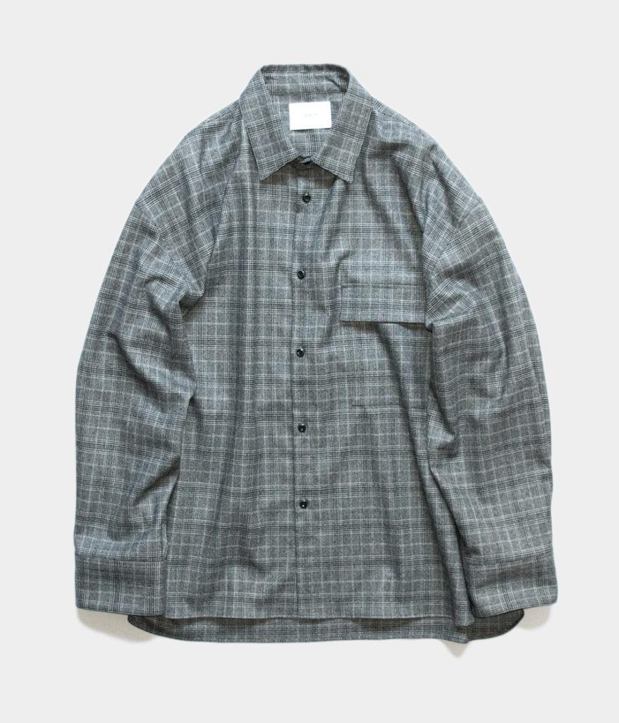 Stein シュタイン 19AW OVERSIZED DOWN PAT SHIRT オーバーサイズシャツ