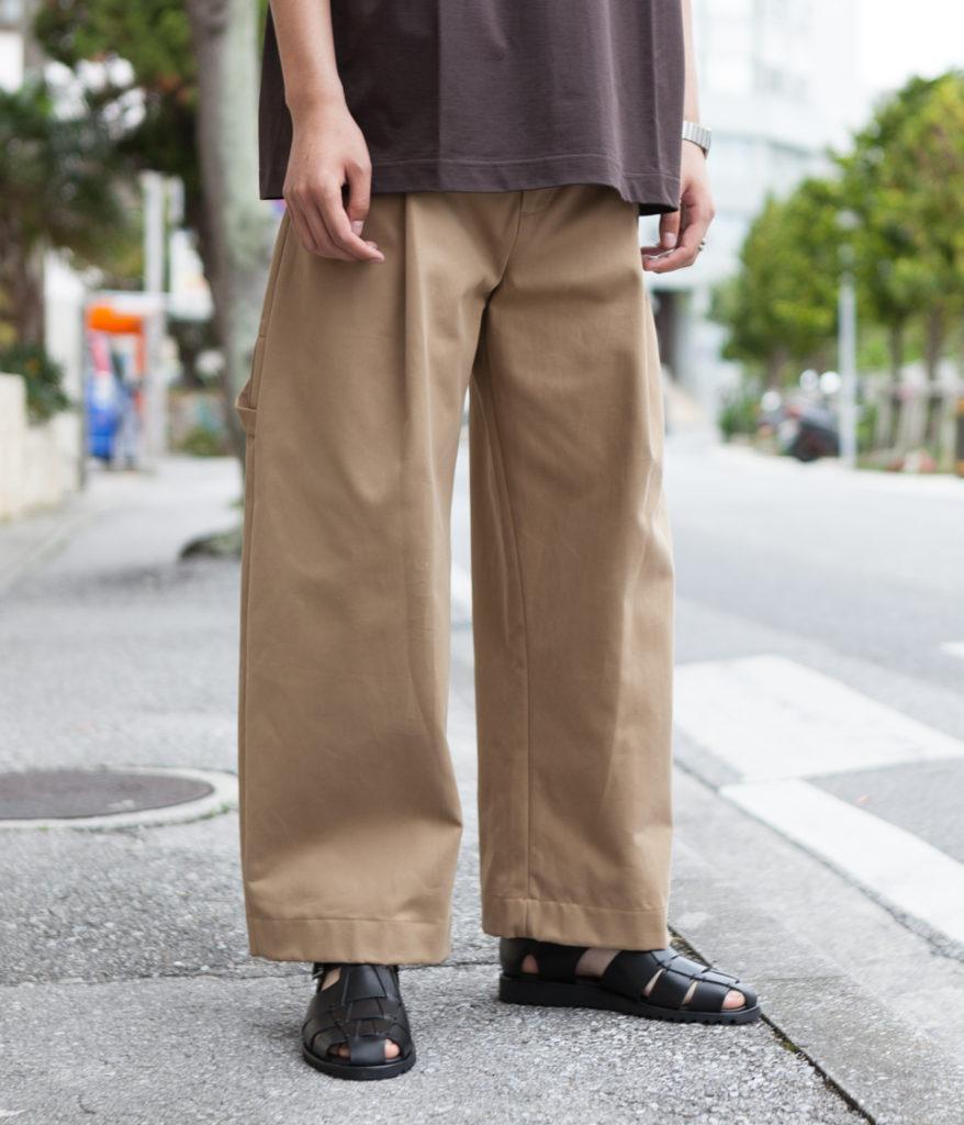 STUDIO NICHOLSON スタジオニコルソン 19AW BRIDGES PANT Cotton Drill Pants-Volume Pant コットンドリルボリュームパンツ