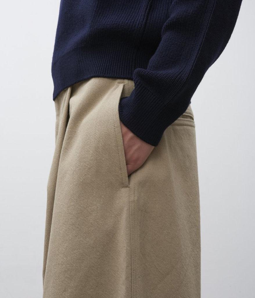 STUDIO NICHOLSON スタジオニコルソン 19AW BUSHEL Wool Twill Volume Pant ウールボリュームパンツ