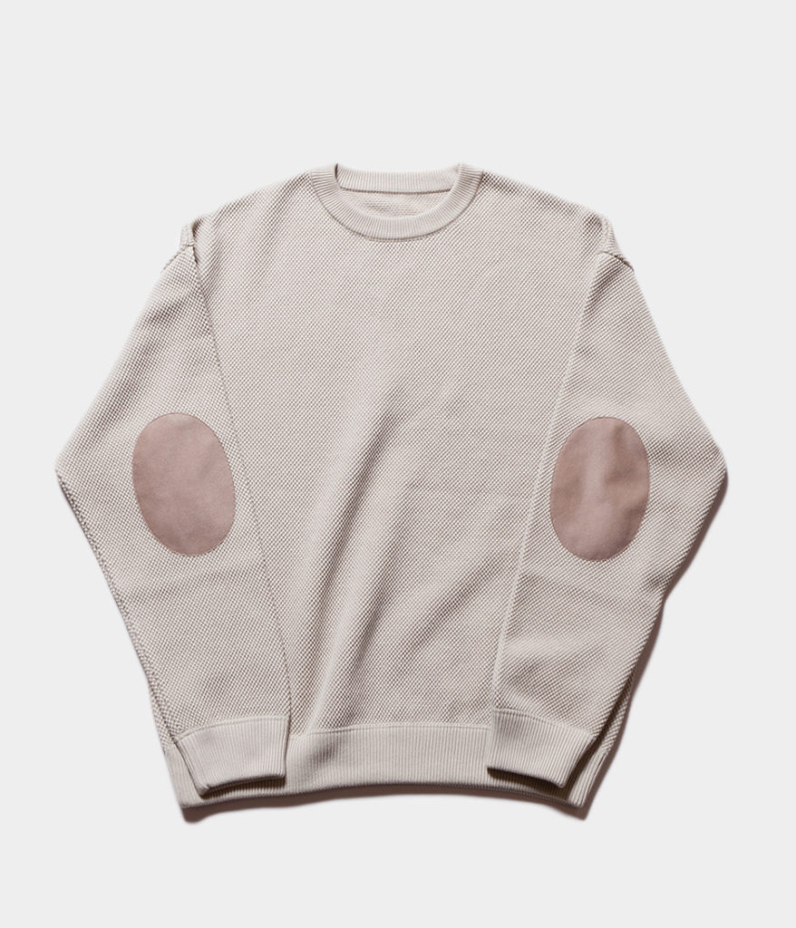 Crepuscule クレプスキュール 19AW moss stitch L/S sweat モスステッチロングスリーブスウェット
