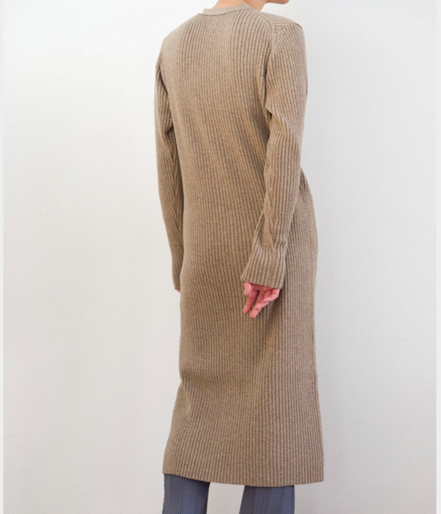 PHEENY フィーニー 19AW 12G rib knit long cardigan リブニットロングカーディガン