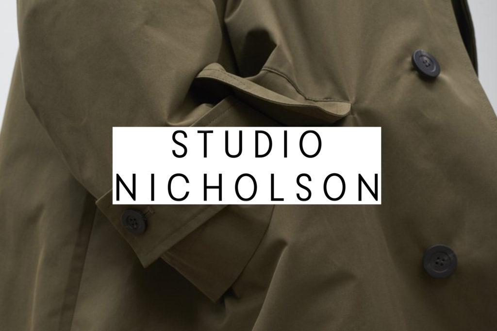 STUDIO NICHOLSON スタジオニコルソン 19AW