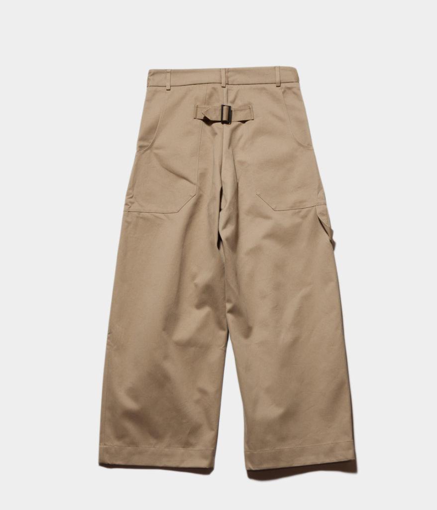 studio Nicholson スタジオニコルソン BRIDGES PANT Cotton Drill Pants-Volume Pant