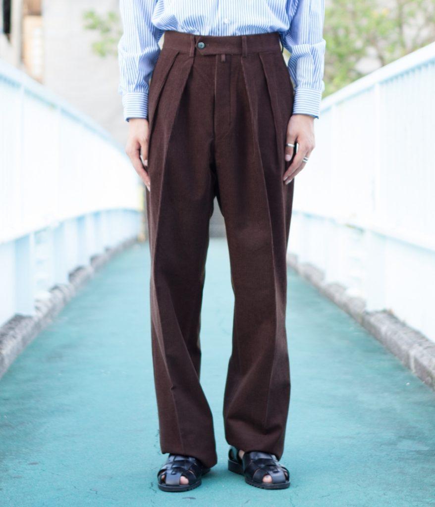 NEAT ニート Wool Cotton Corduroy Wide ウールコットンコーデュロイワイドパンツ
