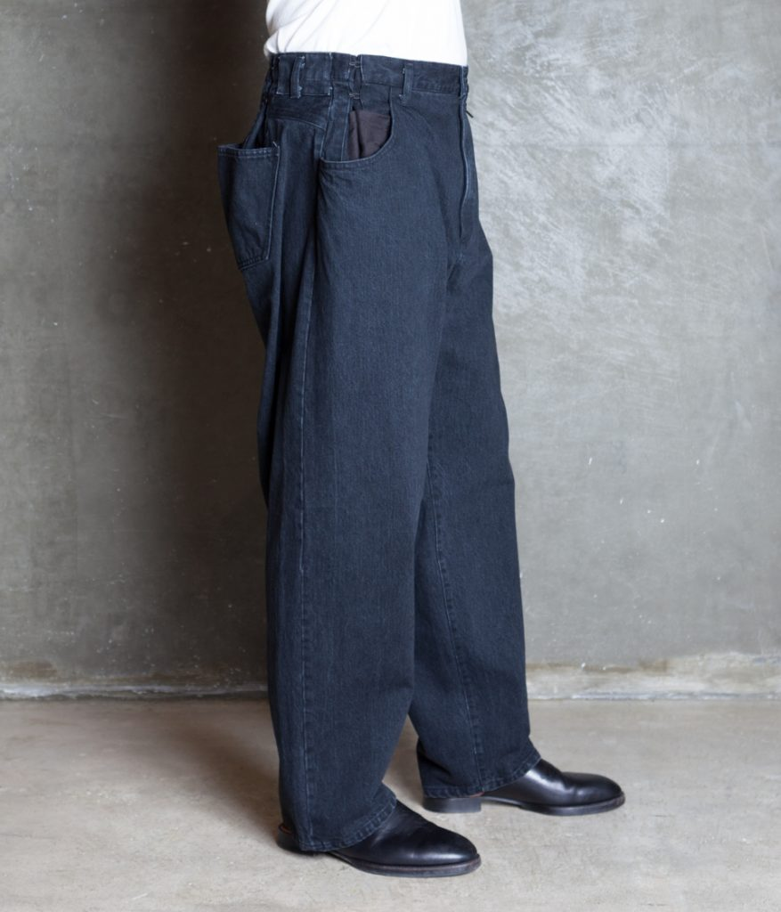 EX WIDE HOOKED DENIM JEANS デニムパンツ