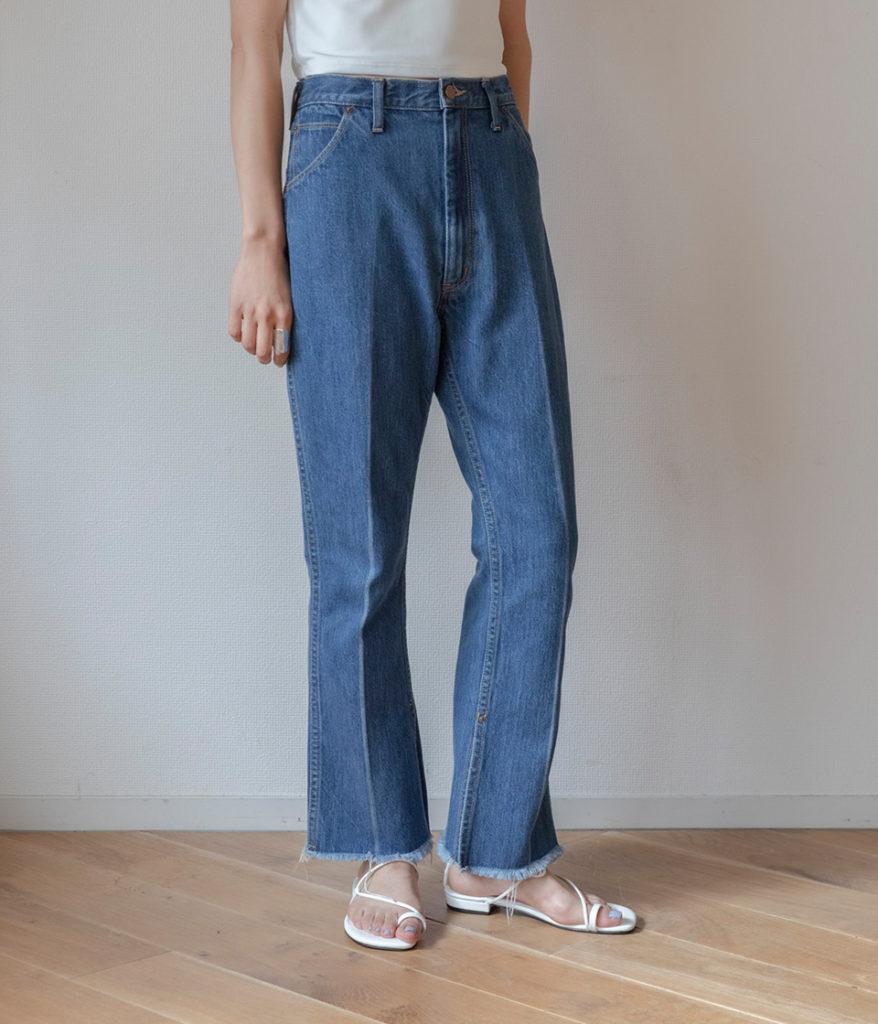 PHEENY フィーニー 20SS Vintage denim center press pants デニムパンツ