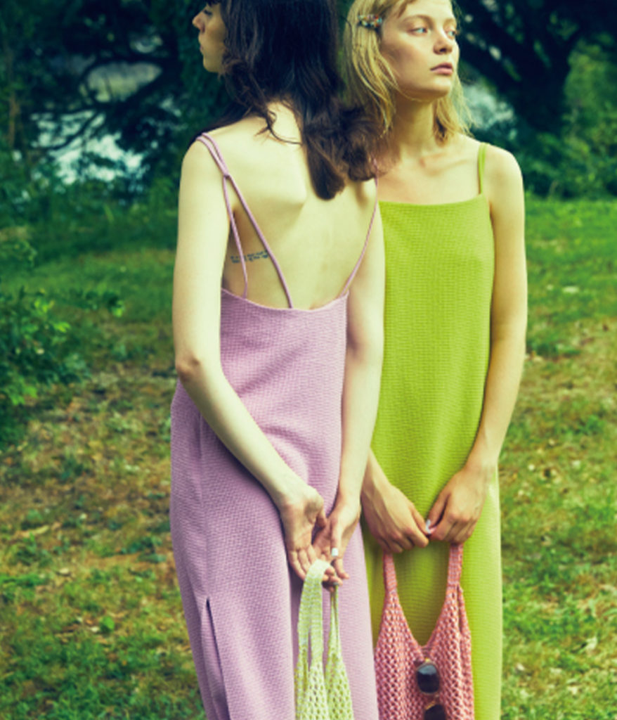 PHEENY フィーニー 20SS Double weave dobby camisole dress ドビーキャミソールドレス