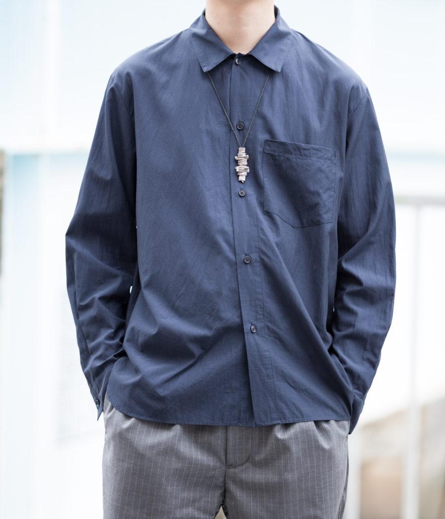 STILL BY HAND スティルバイハンド 20SS SH02201 コットンキュプライージーフィットシャツ