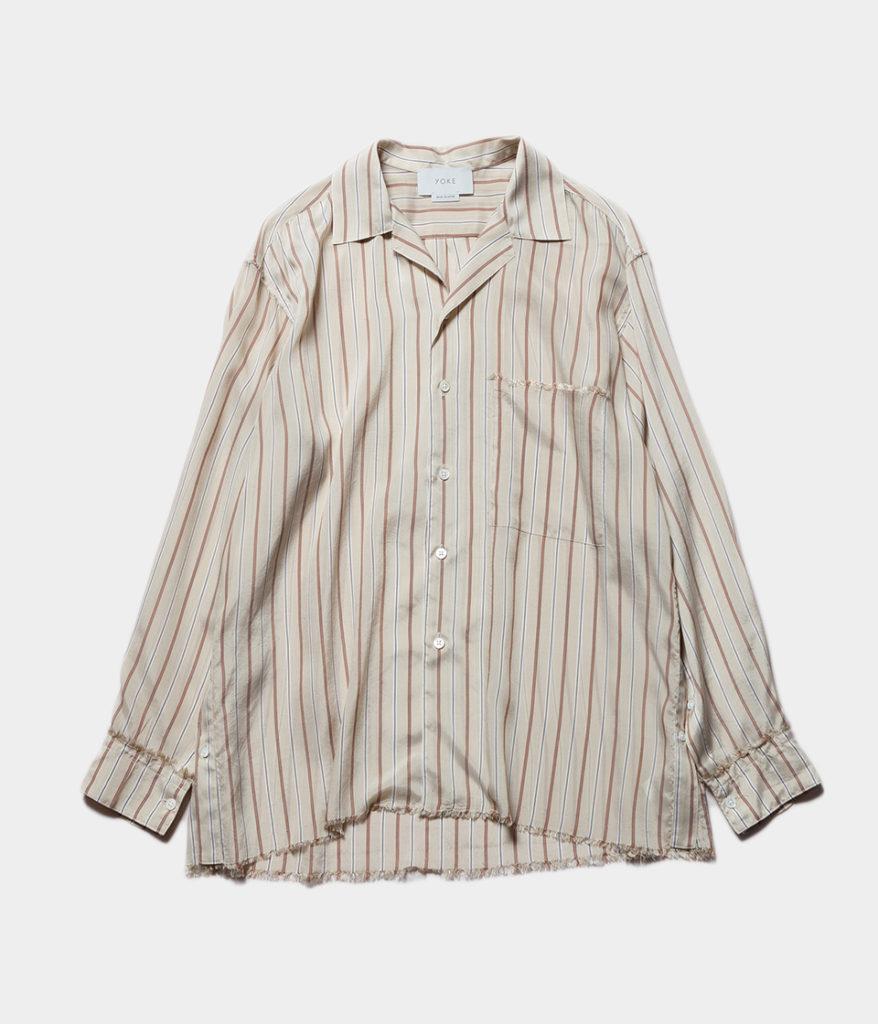YOKE ヨーク 20SS 通販 OVER SIZE STRIPE SHIRTS オーバーサイズシャツ