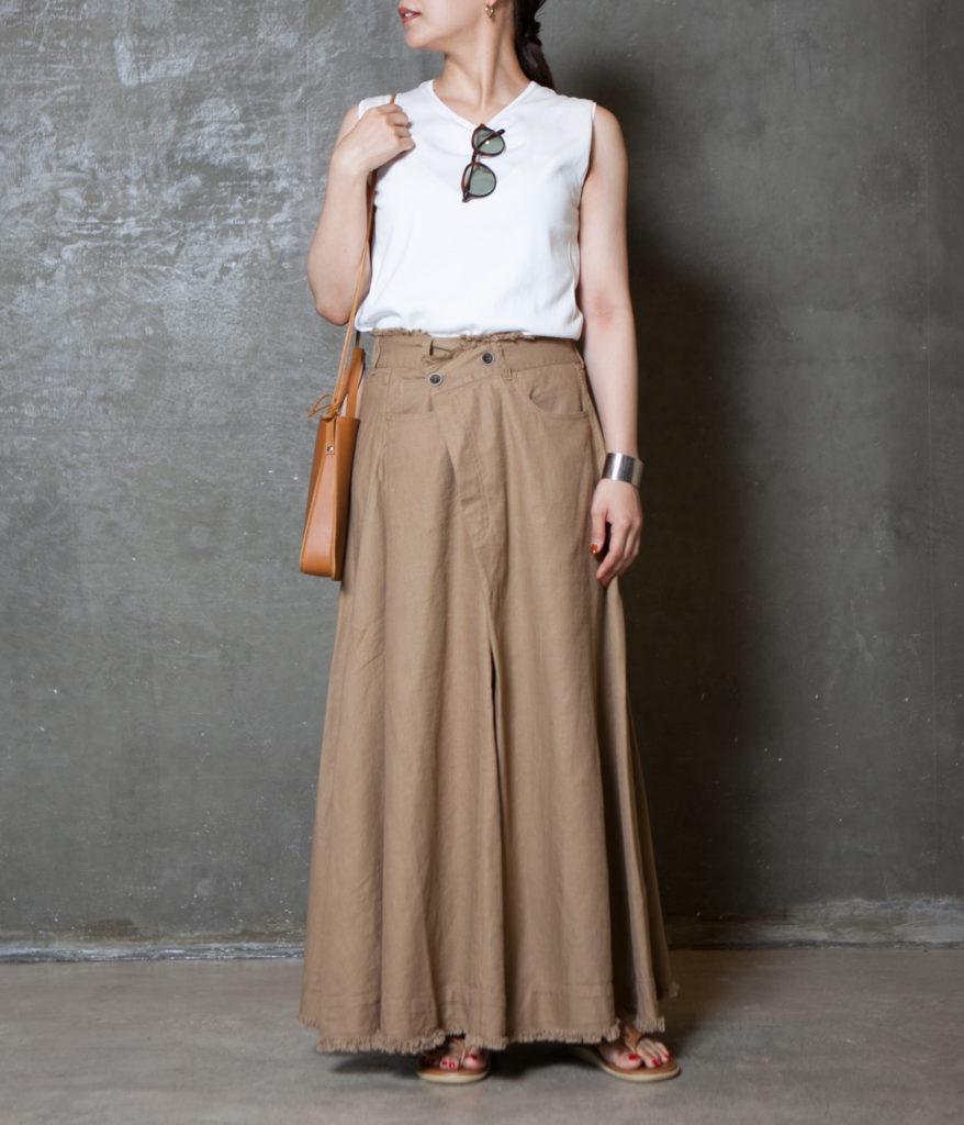 Vincent et Mireille ヴァンソンエミレイユ Fringe long skirt フリンジロングスカート