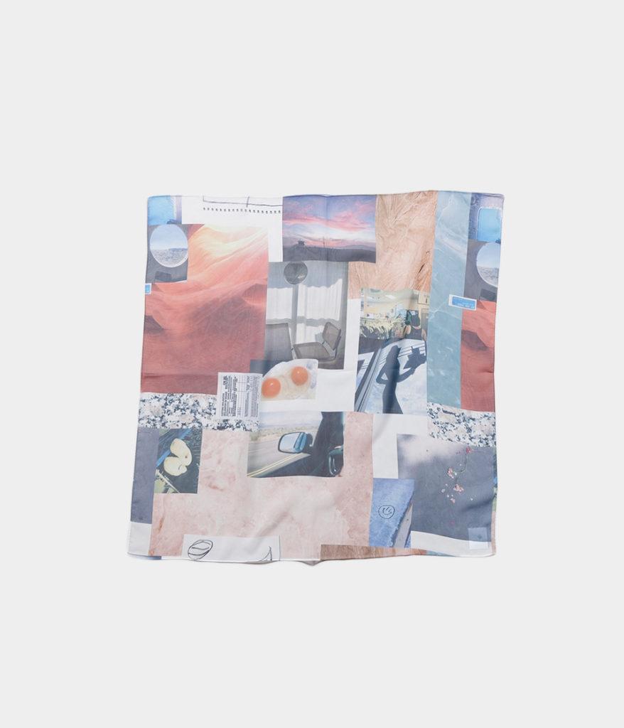 PHEENY フィーニー 20AW Print chiffon scarf large プリントシフォンスカーフL