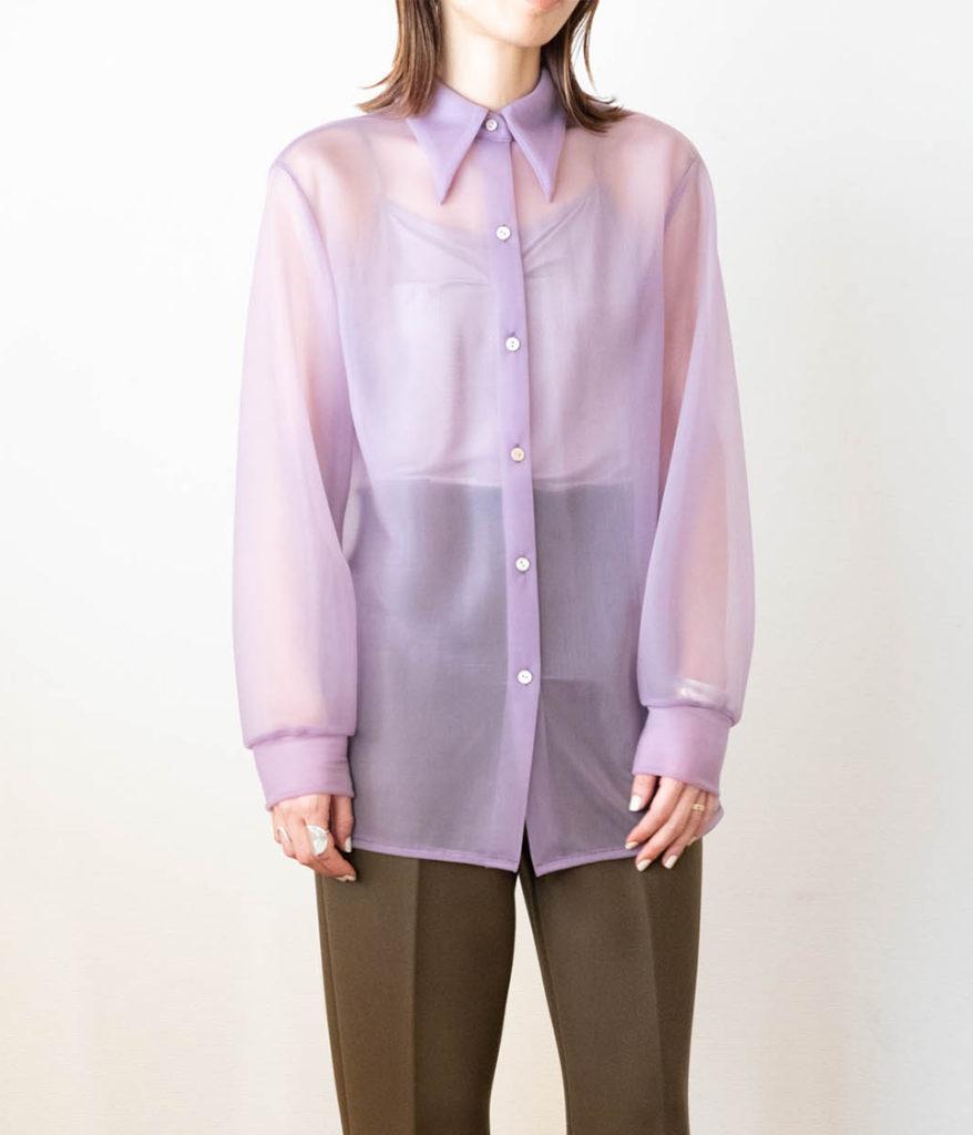 PHEENY フィーニー Nylon smooth shirt ナイロンスムースシャツ