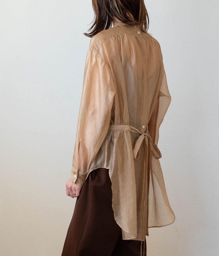 PHEENY フィーニー Wrinkle organdie dress shirt リンクルオーガンジードレスシャツ