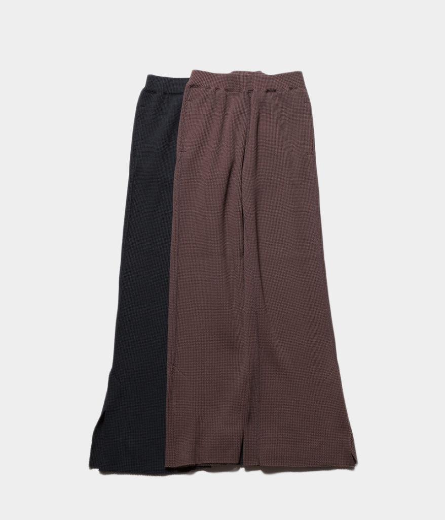 PHEENY フィーニー T/C Big waffle side slit pants ビックワッフルサイドスリットパンツ